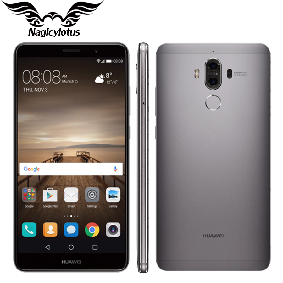 "Huawei Mate 9 4G LTE Octa Core 4GB RAM 32GB ROM 5.9"" HD Android 7.0 Fingerprint ID 20MP+12MP Camera Mobile Phone"