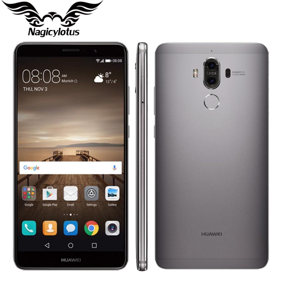 "bilder für Ursprünglicher Huawei Kamerad 9 Mate9 4G LTE Octa-core 4 GB RAM 32 GB ROM 5,9 ""HD Android 7.0 Fingerprint ID 20MP + 12MP Kamera Handy"