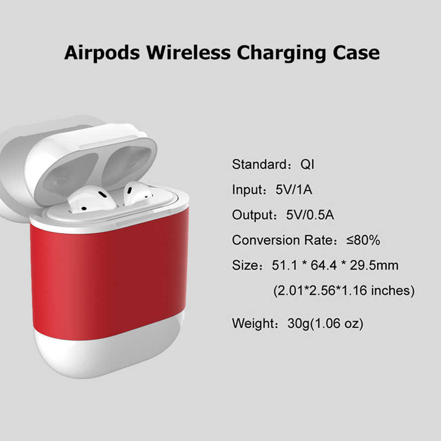 Qi Wireless Charger Case For Airpods Earphone Qi Standard Airpods