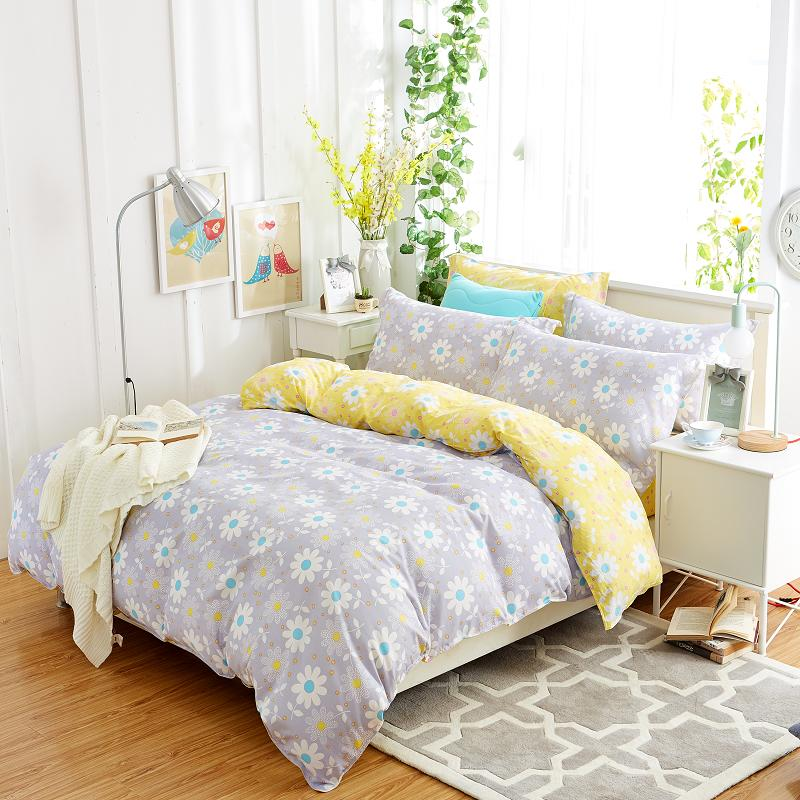 Summer Cotton New Bedding Sets Pillowcase Bed Sheet Duvet Cover 4pcs Queen Soft Comfortable