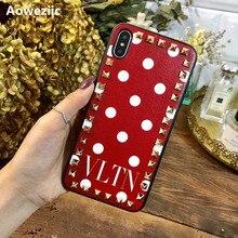 유럽과 미국의 패션 리벳 iPhoneX XS MAX XR 11Pro 휴대 전화 케이스 6s 7 8plus all inclusive soft leather tide