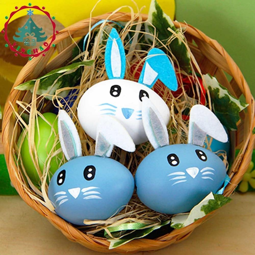 Inhoo 6 adet / 2 takım Paskalya yumurtaları Çocuk oyun evi sevimli - Tatiller ve Partiler Için