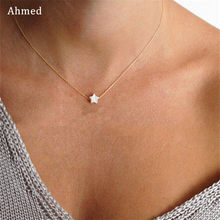 Ahmed New Arrival Beach Style Shell Star Pendant Necklaces for Women Fashion Simple Charm Collar Jewlery 2019 Trendy Gifts(China)