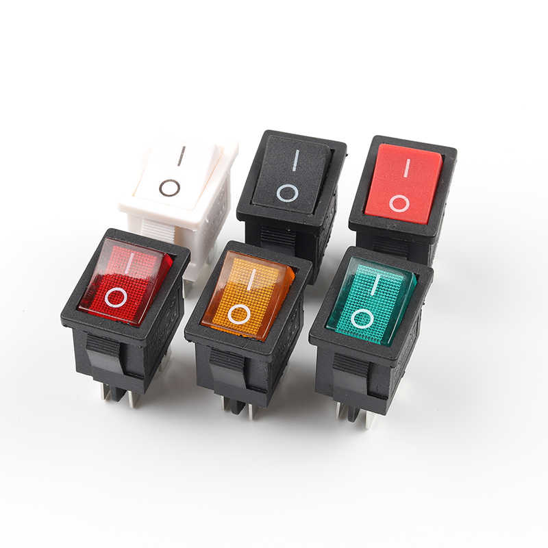 5 PCS/lot KCD1 Rocker Switch ON-OFF 2 Position 4PIN Electrical Equipment Power Switch 6A 250VAC/10A 125VAC 21x15mm DIY YOU