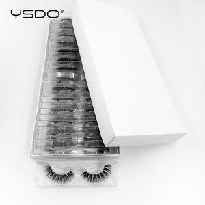 Image 2 - 30 pairs/pack 3D Mink Lashes with tray no box full strip lashes wholesale natural long false eyelashes makeup cruelty free lash