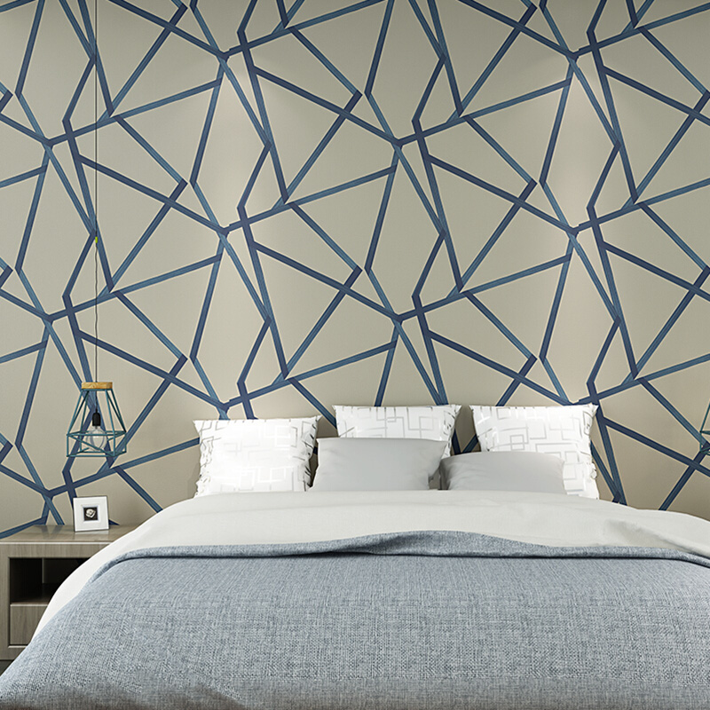 3D Geometry Line Wallpaper Roll Modern Non-woven Wall Paper For Living Room Bedroom Background Wall Home Decor Art Wallpaper 3 D 3d modern wallpapers home decor solid color wallpaper 3d non woven wall paper rolls decorative bedroom wallpaper green blue