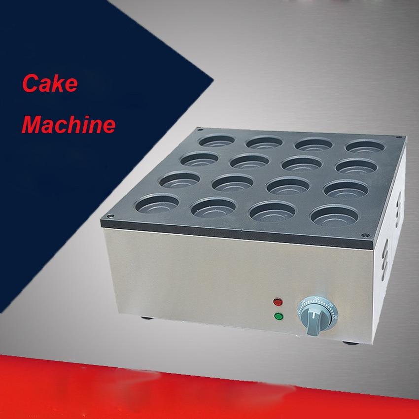 1PC FY-2233A  Electric Aluminum Plate 110V/220V 16 Hole Layer Cake Machine Red Bean Cake Maker Hamburg Maker 1pc fy 2233b r gas type 16 hole aluminum plate layer cake machine pattern in bottom board red bean machine