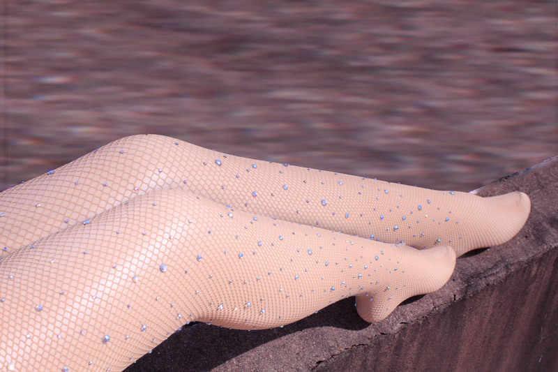 セクシーなダイヤモンドレディースレディスガールズブラックセクシーなフィッシュネット柄ジャカードストッキングラインストーンパンストタイツスタイル女性 tt040