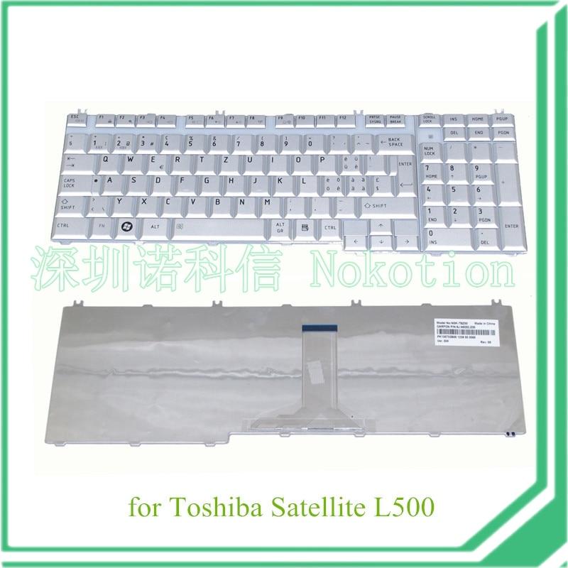 סדרת מקלדת החלפת מחשב נייד עבור toshiba satellite L500 PK130732B08 NOKOTION בריטניה כסף אחריות 60 ימים