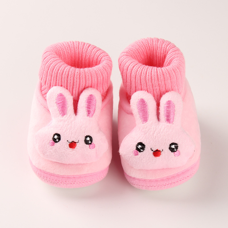 2019 Winter Thicken Baby Cotton Shoes Batch Hair Cute Pink Bunny Baby Boys And Girls Shoes