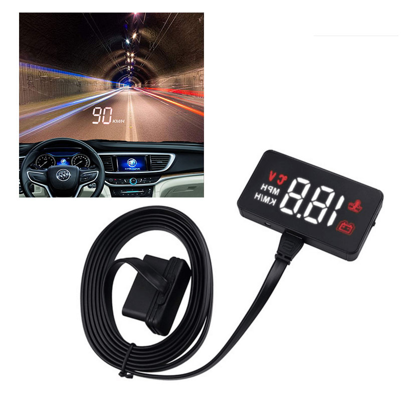 GEYIREN Auto-Electronic-Voltage-Alarm Windshield Head-Up-Display Warning-System-Projector