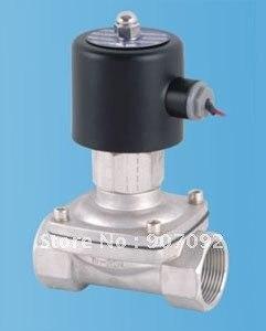 Бесплатная доставка 2 шт./лот 1 1/4 ''из нержавеющей электромагнитный Клапан воды нефть и газ 2/2 способ модель 2s350 35 no