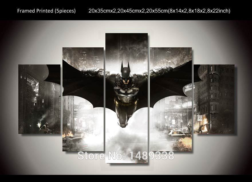 Buy Framed Printed Batman Movie Poster 5 Piece Painting Wall Art Children 39 S