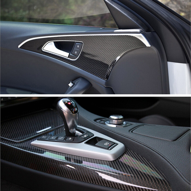 6D Car stickers and decals styling tuning Carbon Fiber Vinyl Film Waterproof Sticker Car Wrap Roll auto Accessories 152cm*20cm