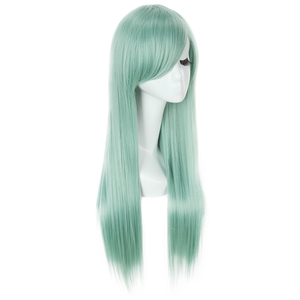 Image 2 - L email wig The Seven Deadly Sins Cosplay Wigs Elizabeth Liones Wig Long Green Straight Women Synthetic Hair Cosplay Wig