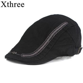 Gorra de algodón de boina de moda Xthree para hombre visores gorra de sol  Gorras Planas Gorras boinas ajustables 4e86eb43182