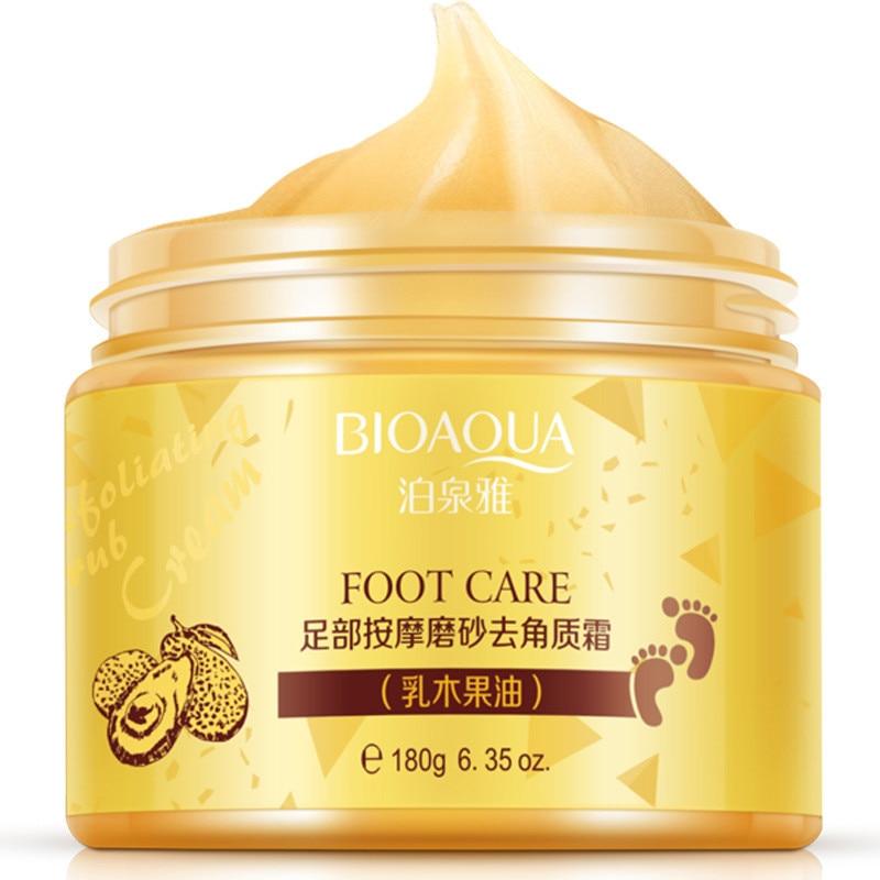 BIOAQUA Foot cream Shea Butter Moisturizing Whitening cream Foot Care Exfoliating Anti-dry scrub ageless skin care bioaqua exfoliante para pies