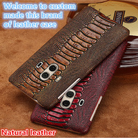 LS08 Natural leather hard cover case for Nokia 6 phone case for Nokia 6 phone cover