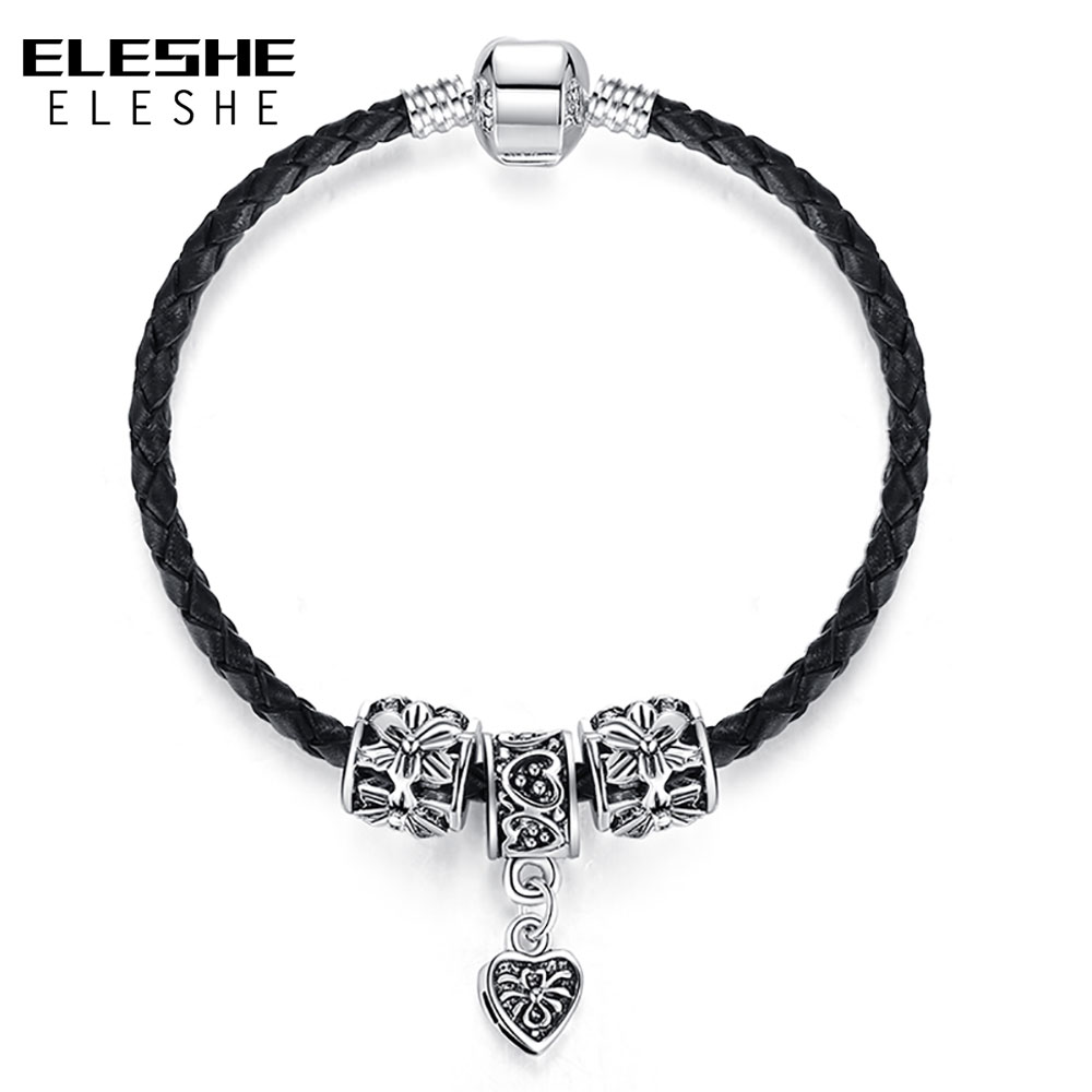 ELESHE Genuine Leather Bracelet...