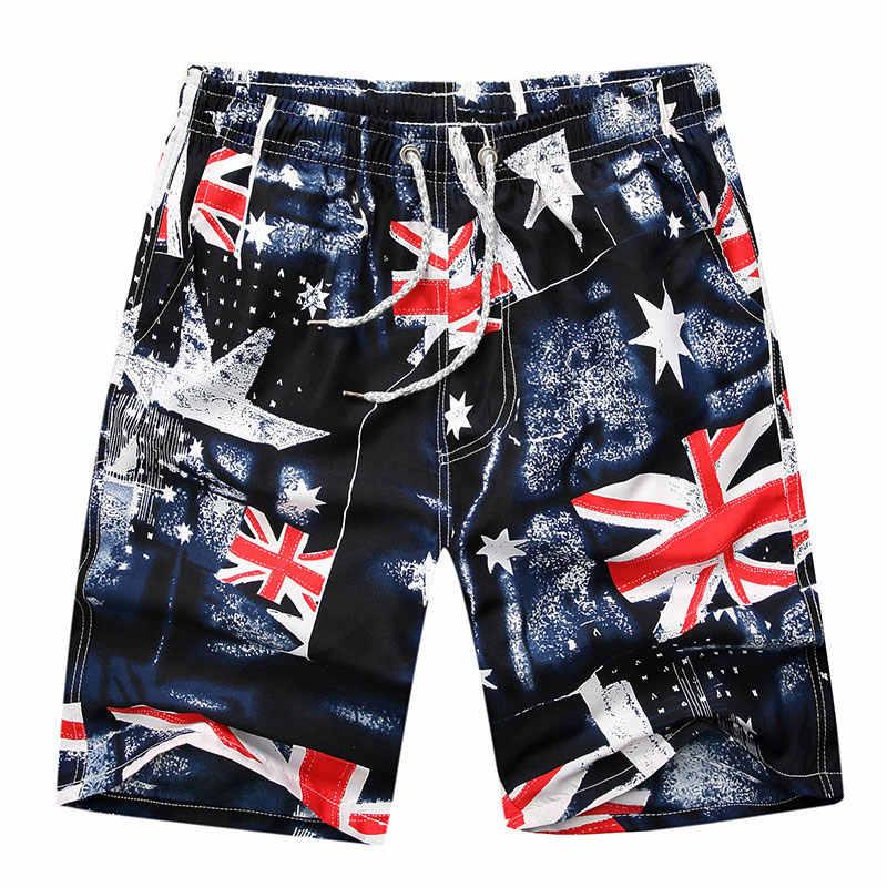 Флаг Великобритании печатных пляжные шорты мужские Для женщин борад шорты Мужские Шорты для купания 2018 летние Повседневное быстросохнущая карман отдых Гавайский пару шорт
