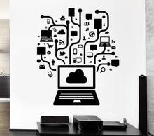 Creative Computer Social Network Game Internet Teen Art Vinyl Design Wall Sticker Home Room Decor PVC Wall Mural Y-799