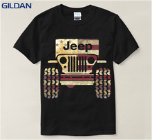 High Quality 65% Vintage Jeep While Black Blue T Shirt Men Cotton Cotton T Shirt For Men Fit Tops Tee Regular T-Shirt For Men(China)