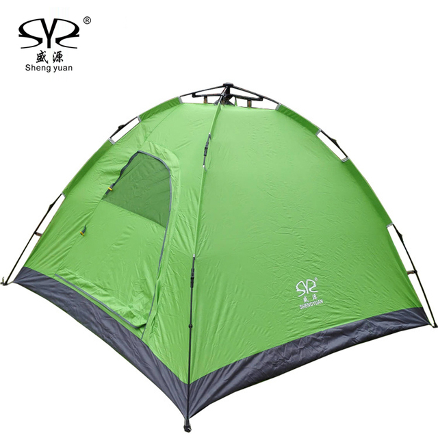 2017 2 4kg Outdoor Camping Beach Tent Pop Up Open 3 4person Quick Automatic Opening