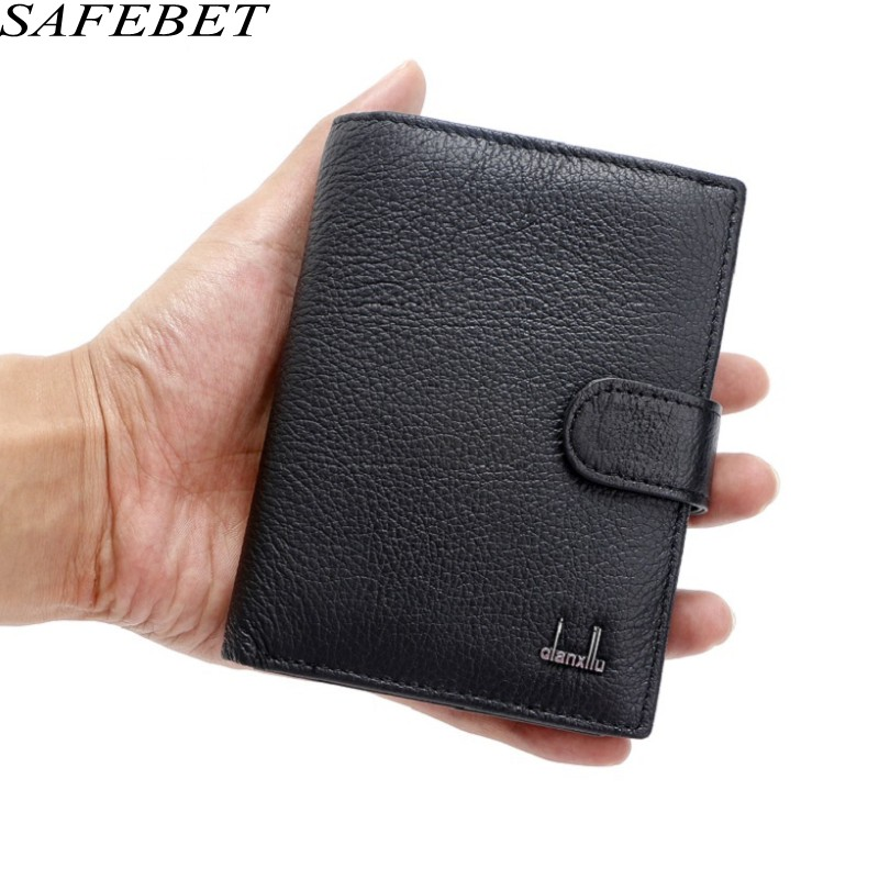 SAFEBET Brand Men Genuine Leather Wallet Fashion Luxury Mens Wallet Wallets With Coin Pocket Thin Purse Card Holder For bogesi men s wallets famous brand pu leather wallets with wallet card holder thin slim pocket coin purse price in us dollars