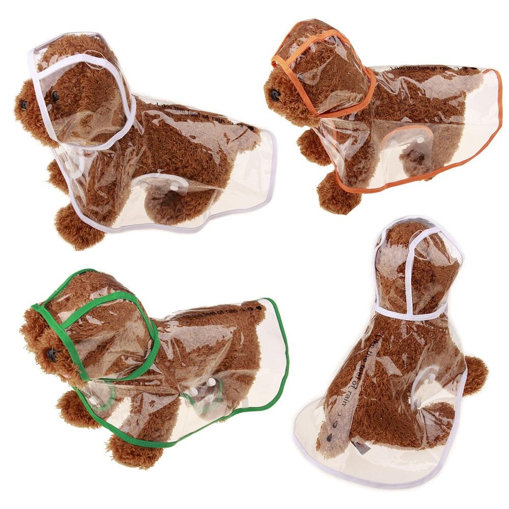 Transparentní pláštěnka pro malé psy Vodotěsný déšť Oblek Pet Dog Coat Zlatý retriever Nepromokavý pes Pláštěnka Oblečení Poncho