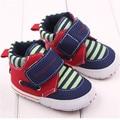 0-18 месяцев Полоса новорожденных детская обувь мальчик спортивной обуви холст младенческой малыша мягкой подошве prewalker унисекс дети анти-нескользящей обуви