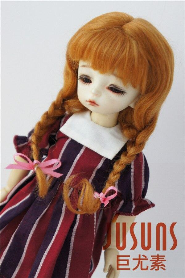 JD2031 1/6 mohair BJD pelucas de muñeca 6-7 pulgadas YOSD Long Lovly - Muñecas y peluches - foto 6