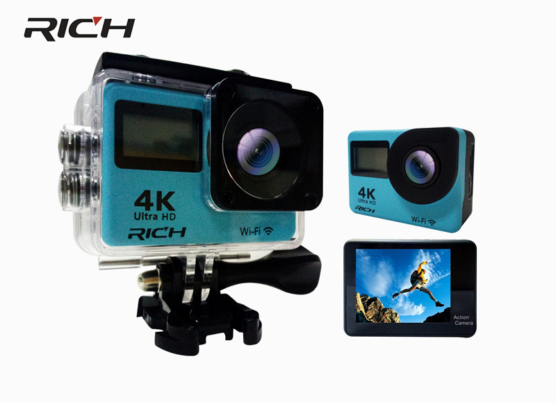 RICHE H1 F65R Sport Caméra Allwinner V3 2.0 double tactile écran D'action Caméra WiFi 170D Pleine HD 30 M Étanche Vidéo DV