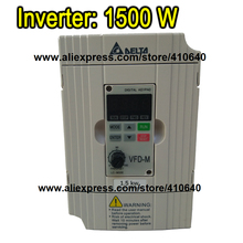 Delta Inverter 1.5 KW VFD015M43B 3 Phase 380V to 460V Rated Currrent 4 A Brand New 1500 W Products with Free Shipping Delivery