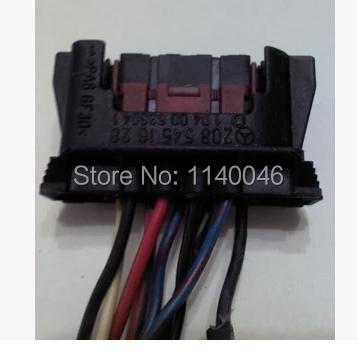 1PCS (Used)FOR  Mercedes headlight high with Plug / car connector / harness connector 1pcs for bmw computer board plug connector used 7 505 478