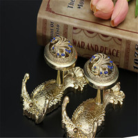 Blue Peacock Exquisite European Style Curtain Decoration Factory Direct Sale Wholesale Wall Hook