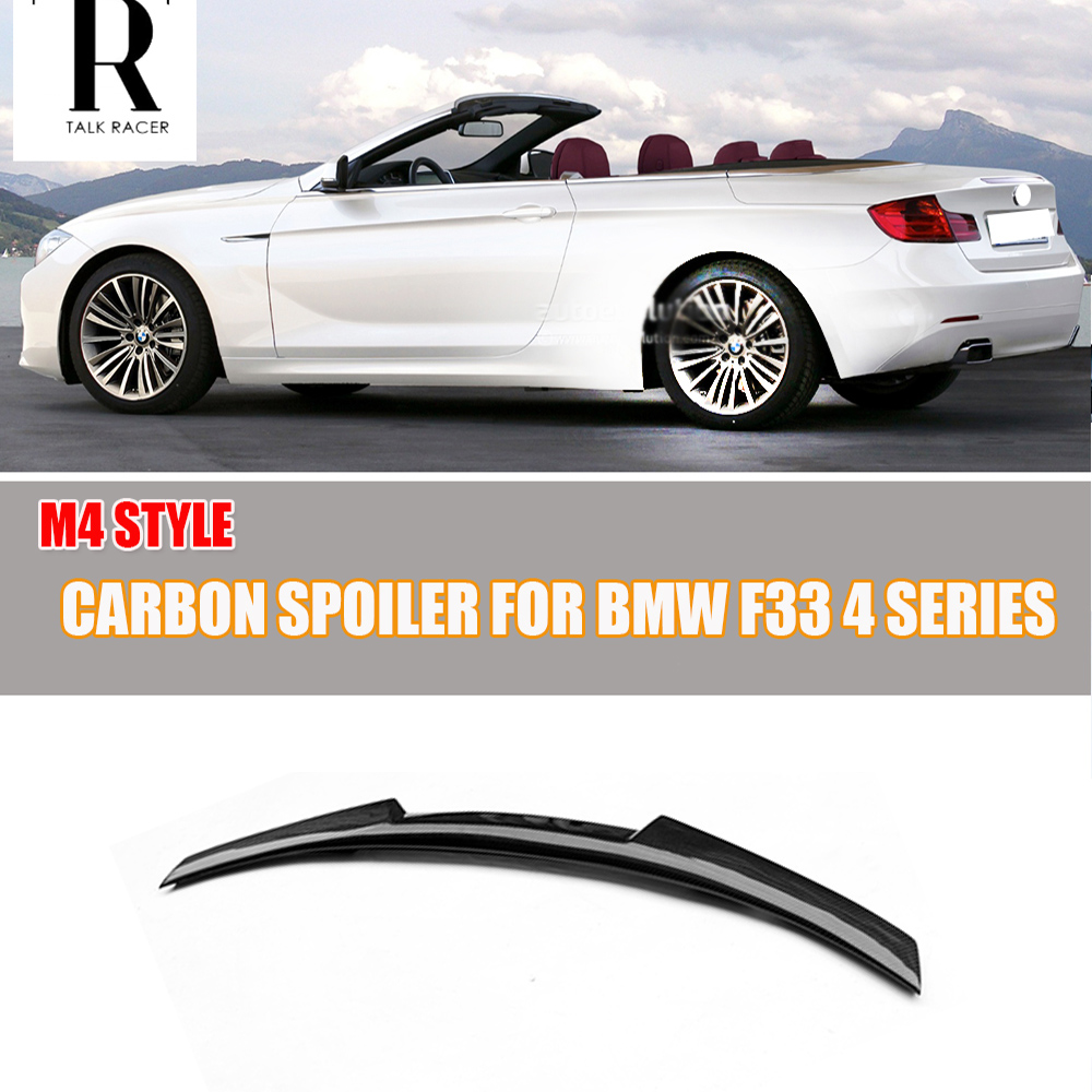 For BMW F33 Cabriolet 420i 428i 435i (non m4 ) Carbon Fiber Rear Trunk Spoiler F33 Auto Racing Car Tail Boot Lip Wing Spoiler|trunk spoiler|wing spoiler|boot spoilers - title=