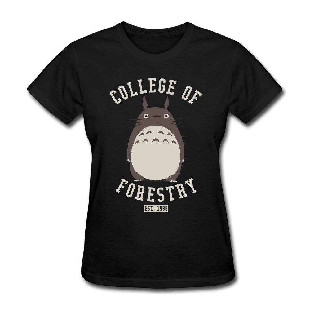 Creat Own Short Sleeve Women T Shirt Totoro College of ...