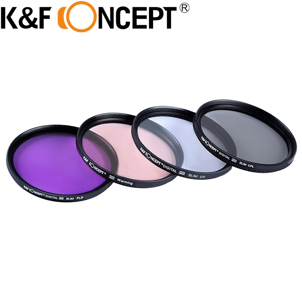 K&F CONCEPT 52mm 58mm 67mm UV CPL FLD Warming Lens Filter Kit for Nikon D5300 D5100 D3100 for all different DSLR Cameras Lens