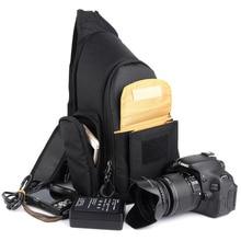 DSLR Camera Bags Sling Shoulder Video Photo Digital DSLR Case Waterproof with Rain Cover for Nikon Canon цена