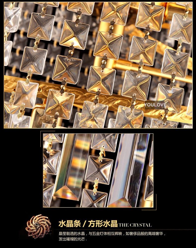 Moderna LED-guld Kristallkronor Ljusarmatur Hem Hotell Stort projekt - Inomhusbelysning - Foto 5