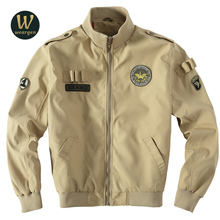 New Men's Jacket Fashion Spring Autumn Clothing Air Force One Men Coats Casual Fit Slim Bomber Jackets Brand Clothing
