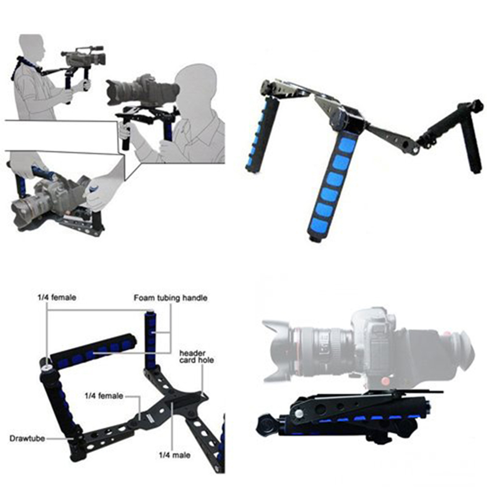 Premium DSLR Rig Movie Kit Shoulder Mount Holder Photo Studio Accessories for Canon Nikon DSLR Video Camcorder Camera DV