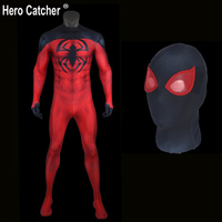 Hero Catcher High Quality 3D Print Scarlet Spiderman Cosplay Costume Comic Red Spiderman Costume Scarlet Spiderman