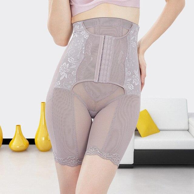 Adelgaza muslo butt lift shapers control bragas de cintura alta de las piernas de la ropa interior cincher tummy trimmer gancho