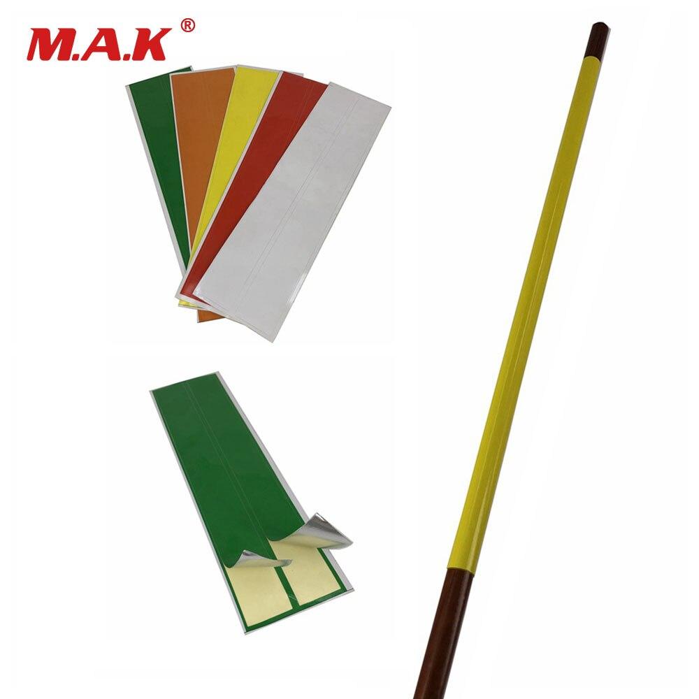 12 Pcs/Bag Arrow General Arrow Sticker 20x17x1 Cm Highly Viscous Bright Film DIY Arrow Accessory For Archery Hunting Shooting