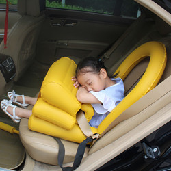 PVC Car Inflatable Children Seat Travel Portable Infant Safety Cushion Folding General Inflatable Kids Car Safety Seat Liner