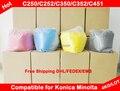 Compatível para Konica Minolta Bizhub C250 / C252 / C350 / C352 / C451 / C550 / 250 / 350 / 352 / 451 / 550 Chemical Color Toner pó frete grátis