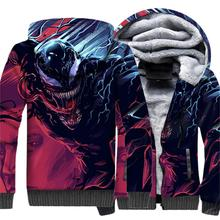 где купить Autumn Winter Hooded Hoodies 2018 New Arrival 3D Pattern Sweatshirts For Men Super Hero VENOM Hip Hop Men's Sweatshirt Hoodies по лучшей цене