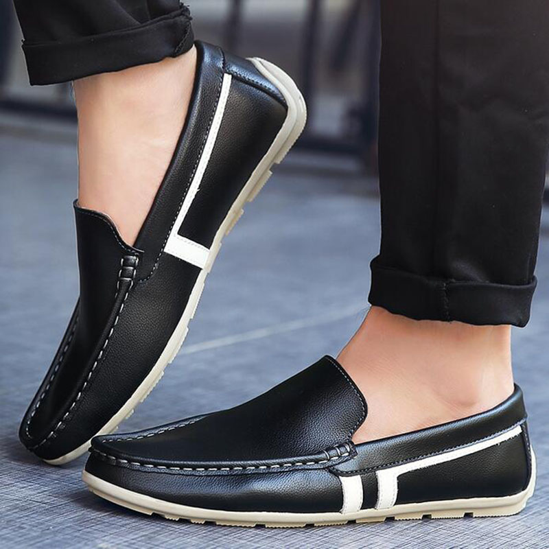 Best quality Genuine Leather men brand casual flats Soft leather Loafers  Comfortable Driving Shoes Handmade moccasins for man-in Men s Casual Shoes  from ... a93bb0e5639