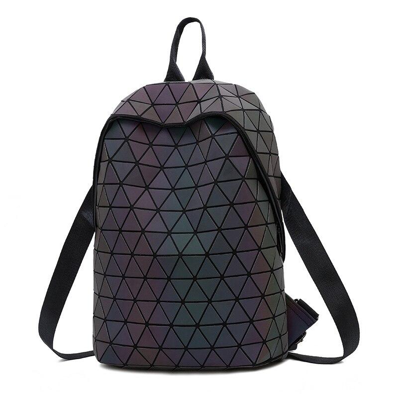 f9539744569e 2019 Bao Bag Drawstring Backpacks Women Geometric Luminous Backpack For  Girls School Bag Noctilucent holographic Female
